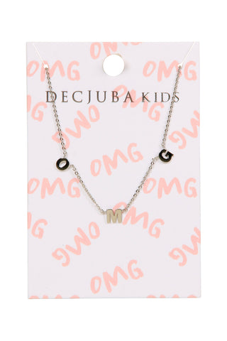 Kids OMG Letter Necklace
