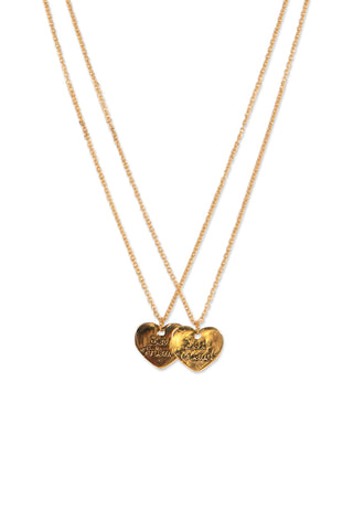 Kids BF Heart Necklace 2 Pack
