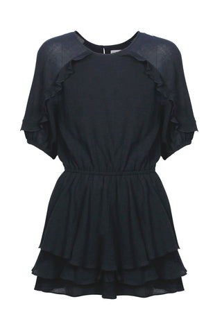Kids Rose Ruffle Playsuit
