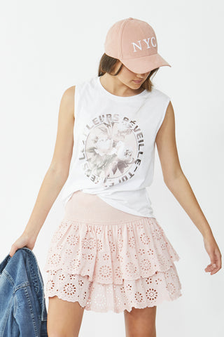 Kids Circle Floral Muscle Tank