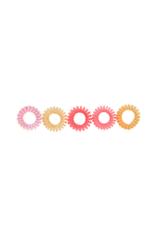 Kids Spiral Hair Tie 5 Pack
