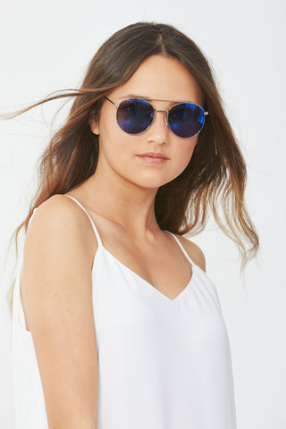 Kids Round Aviator Sunglasses