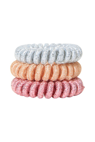 Kids Spiral Hair Tie 3 Pack