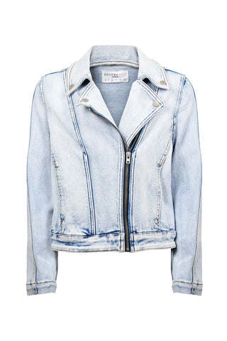 Kids Astrid Denim Biker Jacket