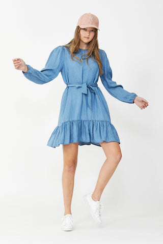 Kids Jasmine Chambray Dress