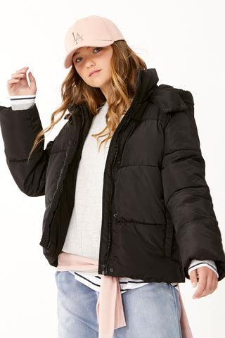 Kids Loren Crop Hooded Puffer