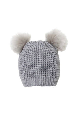 Girls Double Pom Beanie
