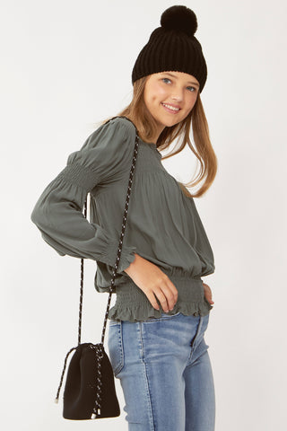 Kids Charlotte Shirred Top