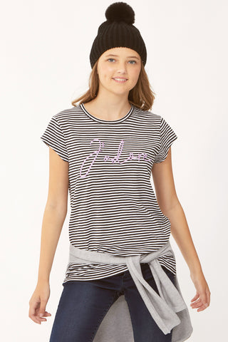 Kids Jadore Stripe Tee