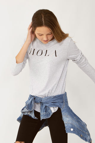 Kids Hola Foil Long Sleeve Tee