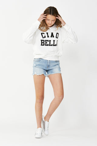 Kids Lila Cropped Crew