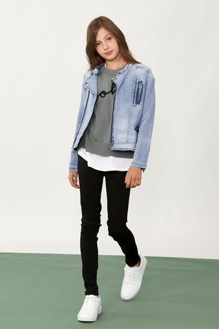 Girls Nina Denim Biker Jacket