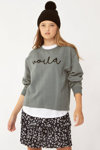 Kids Molly Cropped Crew