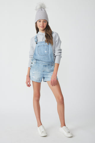 Girls Lily Denim Short Overall