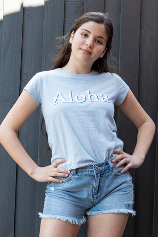 Kids Shadow Aloha Tee