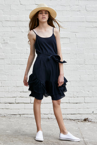 Kids Raven Ruffle Dress