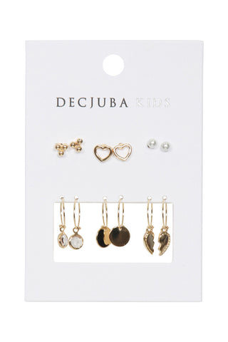 Girls Lea Mixed Earring 6 Pack