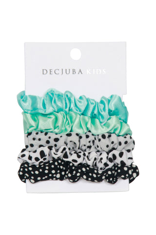 Girls 5 Small Scrunchies