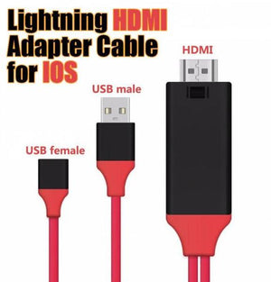 Lighting HDMI Adapter Cable For IOS (Size 2M)