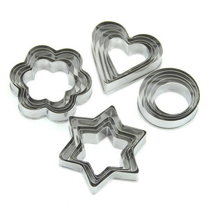 set 20pcs Geometric Shaped Cookie Biscuit Cutter