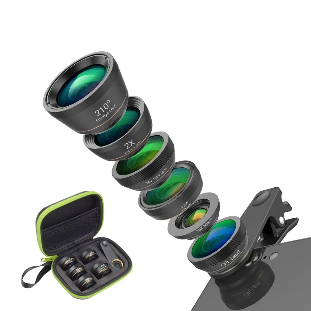 6 in 1 Phone Camera Lens (Applicable to any devices)