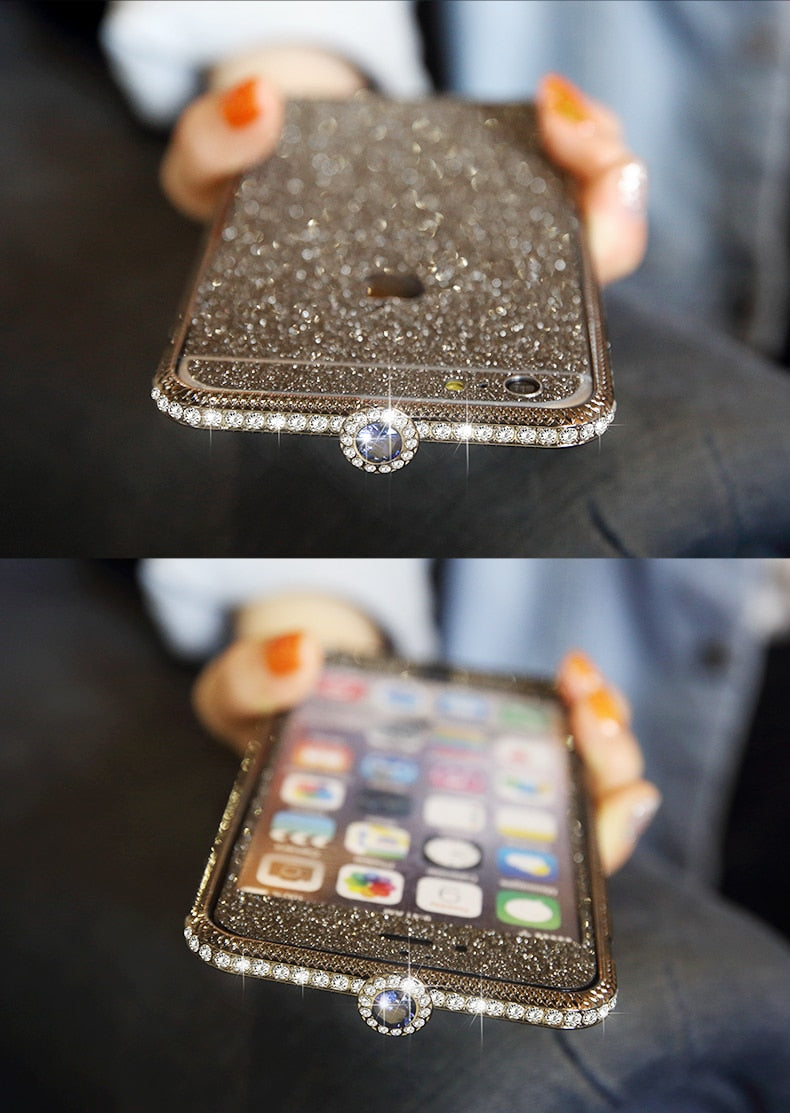 iPhone Case With Stainless Steel Metal Phone Frame