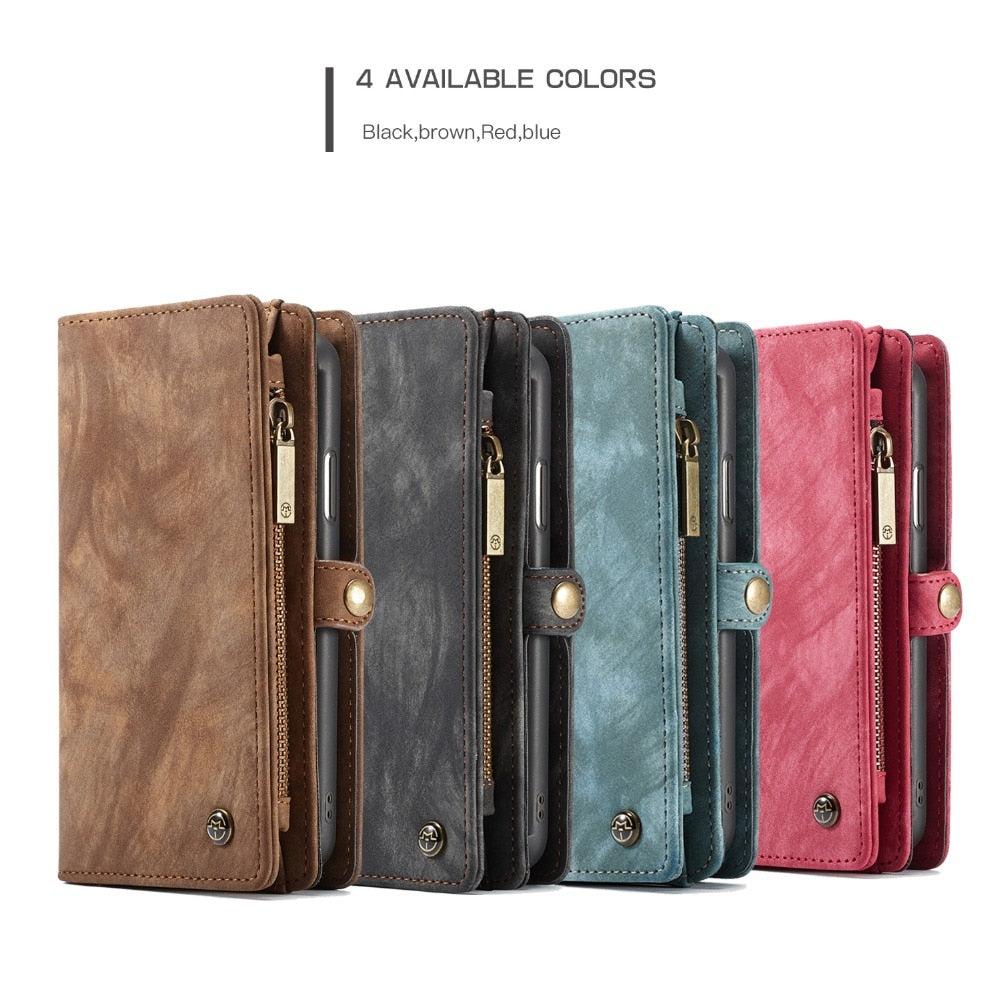 Magnetic Flip Leather Wallet Case for iPhone