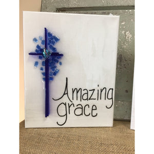 Amazing Grace Cross - 8 x 10