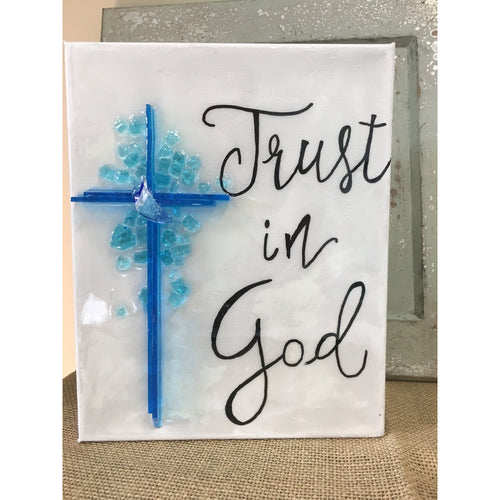 Trust In God Cross - Azuria 8 x 10