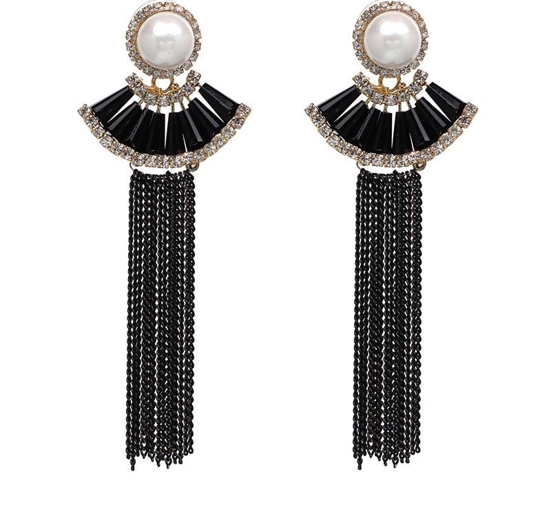 ORIEN- WATER DROP CHAIN TASSEL EARRINGS