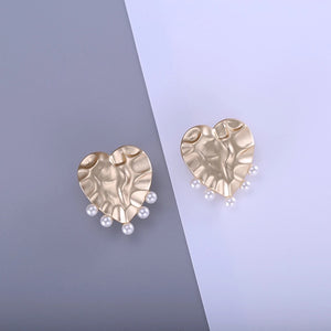 AGAPE-LOVE HEART STUDS