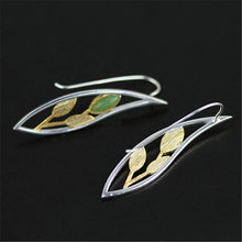 FYLO- STERLING SILVER/GOLD AVENTURINE STONE EARRING