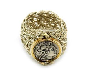 DIONYSUS GOLD/METAL THREAD RING