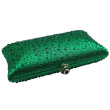 MAYA- CRYSTAL CLUTCH/BAG- GREEN