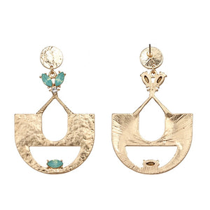 SHEENA- HAMMERED GOLD EARRINGS