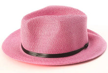 BORSALINO- STRAWBERRY PAPER FABRIC HAT
