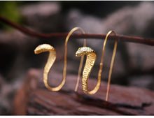 MEDUS-STERLING SILVER/GOLD PLATED SNAKE EARRINGS