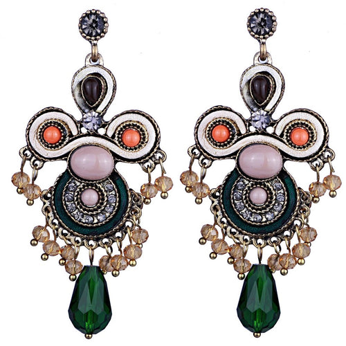 PAULINA-VINTAGE LOOK DROP EARRINGS