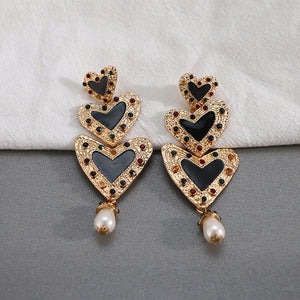 LOVEMETHRICE-LOVE-HEART DROP EARRINGS