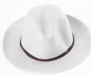 BORSALINO-LIGHT GREY NATURAL PAPER HAT