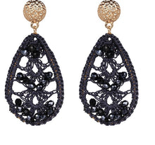 KENDI LEAF- KNITTED DROP EARRINGS