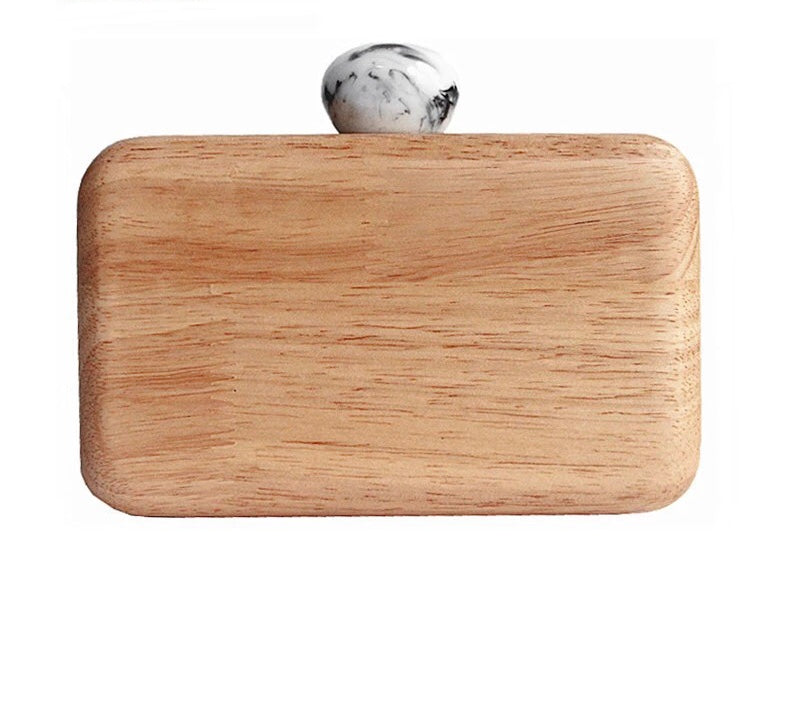 TROIA- WOODEN CLUTCH/BAG