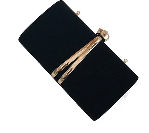 VERA- VELVET CLUTCH/SHOULDER BAG