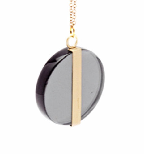 ROSA MENDEZ-ECLIPSE-LARGE MOON WRAP PENDANT NECKLACE