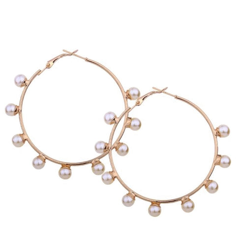 FAIRY- VEGAN PEARL HOOPS