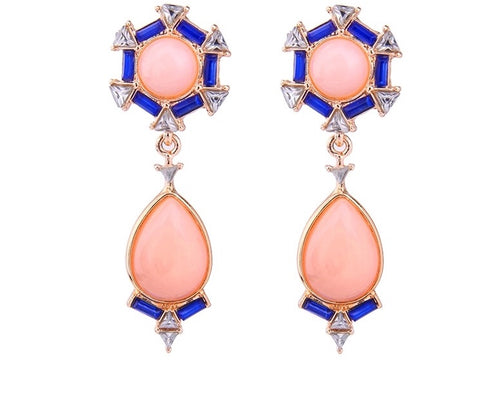 ONA- CORAL DROP EARRINGS