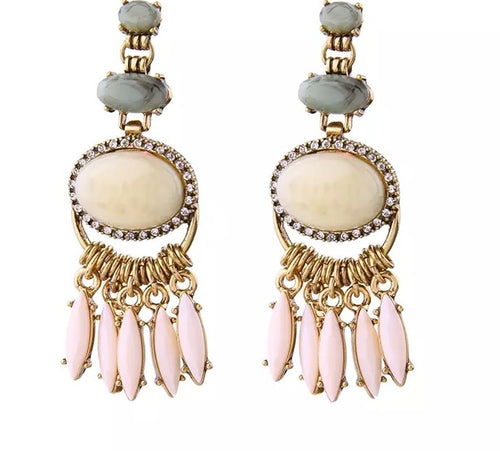 KRYSTA-DROP TASSEL EARRINGS