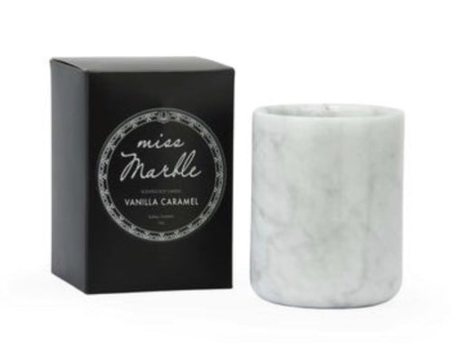 MISS MARBLE CANDLE- VANILLA CARAMEL