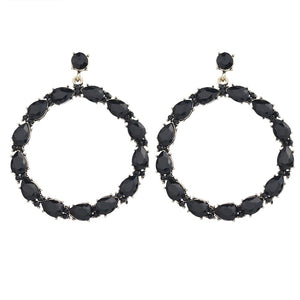 BLACK MOON CRYSTAL EARRINGS