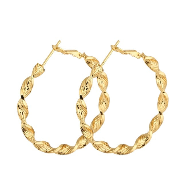 FEELE- BRAIDED HOOPS